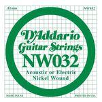 D'addario DNW-032 nickel round wound .032 snaar