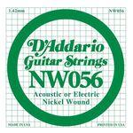 D'addario DNW-056 nickel round wound .056 gitaarsnaar