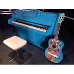 Eavestaff piano 99cm blauw gespoten