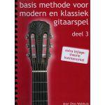 Basis methode voor Modern en klassiek gitaarspel. Deel 3 Otto-Wolthuis