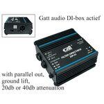 Gatt Audio DI box actief DIA-01