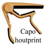 Capo klassiek gitaar houtprint licht