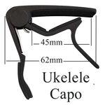 Ukelele capo, capodastro zwart