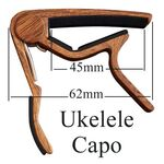 Ukelele capo, capodastro houtprint
