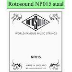Rotosound NP015 .015 snaar voor elektrische/akoestische gitaar