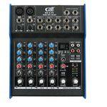 Gatt audio mengtafel 6 kanalen, 2 mono + 2 stereo