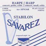Harpsnaar  C nylon 0.56mm 1 meter rood , hoogste C - harpsnaren