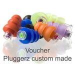 Voucher Pluggerz gehoorbescherming 2-in-1 custom made