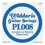 D'addario D-PL-008 gitaarsnaar staal