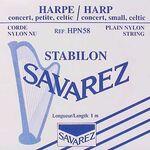 Harpsnaar J  1 A en G, 1' octaaf, nylon 0.58mm 1 meter