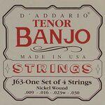 D'addario EJ-63 banjo snaren set 4 snarig