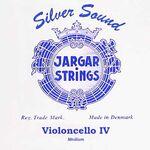 Jargar cellosnaar blue JCE-C-4-Z-BL zilver