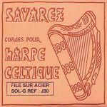 Harpsnaar J 30, G, 5e octaaf, wound steel, voor kleine harp, lengte: 1,2 meter