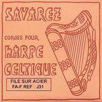 Harpsnaar J 31, F, 5e octaaf, wound steel, voor kleine harp, lengte: 1,2 meter