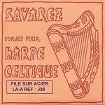 Harpsnaar J 36, A, 6e octaaf, wound steel, voor kleine harp, lengte: 1,35 meter