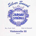 Jargar cellosnaar blue JCE-G-3-Z BL zilver
