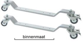 Pianowielen, zaalwielen, met rem dikte 10 mm, breed 45 mm