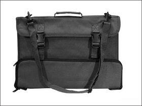 Lessenaartas en bladmuziektas zwart met draagriem