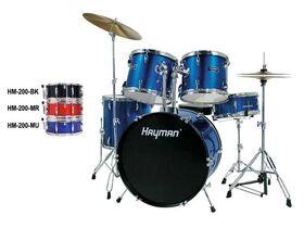 Hayman Start Series 5-delig drumstel zwart