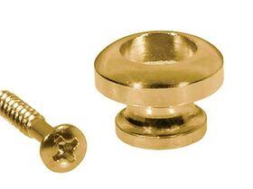Gitaarband houder eindknop met schroef goudkleur