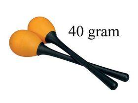 schudeieren, plastic, oranje, paar, met steel, 40 grams