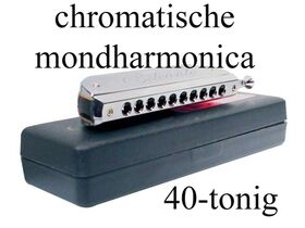 Belcanto chromatische harmonica HRM-40-CRO