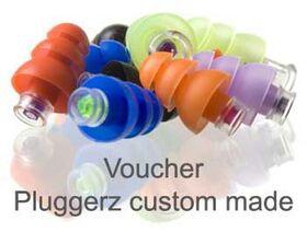 Voucher Pluggerz gehoorbescherming 2-in-1 custom made