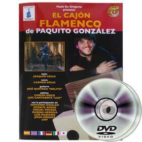 DG CAJON Paquito Gonzalez / El Cajon Flamenco boek + 2 DVD's