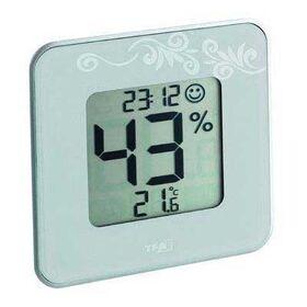 Style elektronische hygro-thermometer met klok