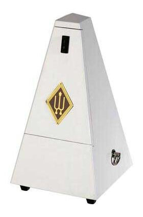 Wittner M-817wh metronoom wit hoogglans met bel