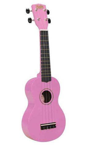 Ukelele sopraan rose met gitaarmechanieken en tas